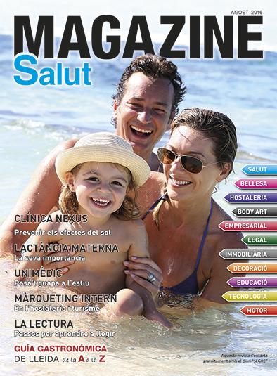 portada agost de 2016 de la revista de lleida magazine salut