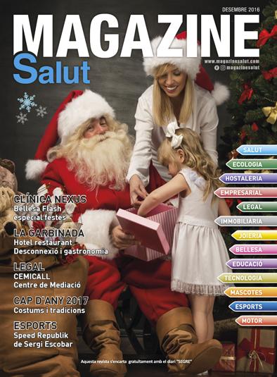 portada de diciembre 2016 de la revista de lleida magazine salut
