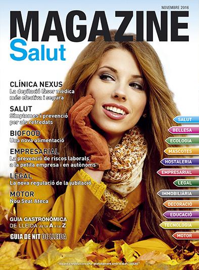 portada de novembre 2016 de la revista de Lleida Magazine Salut
