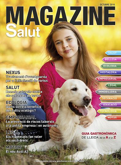 portada de la revista de octubre de 2016 de la revista lleida magazine salut